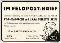 Original-Werbung/ Anzeige 1915 - FELDPOST-BRIEF / KALODONT / Fa. SARG'S SOHN & CO.  WIEN - ca 180 X 130 mm