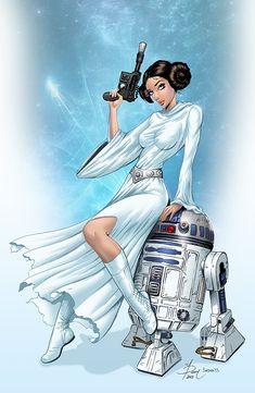 Cool STAR WARS Fan Art - Princess Leia and R2-D2