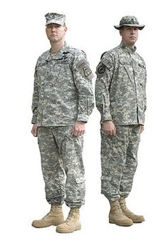 This is the ACU (Army combat uniform) that my hubby wears normally.
