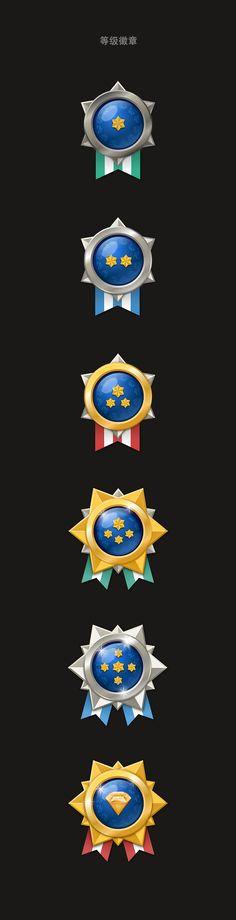 6个等级的徽章..主要是sketch 练习..