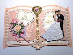 Hochzeitskarten - 3D Buchkarte Hochzeit Nr. 573 - ein Designerstück von MM-Bastelparadies bei DaWanda 3d, Etsy, Frame, Home Decor, Paper Mill, Newlyweds, Invitations, Crafting, Picture Frame
