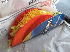 Taco Bell Fiery Doritos Locos Taco
