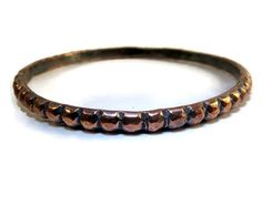 Copper Bangle Bracelet  Size Medium by SilverandSeaJewelry on Etsy
