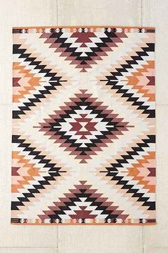 ~~pattern vibes~~ Magical Thinking Elmas Kilim Woven Rug - Urban Outfitters
