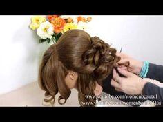 اروع شينيون - YouTube Open Hairstyles, Pretty Hairstyles, Wedding Hairstyles, Hair Style Vedio, Classic Wedding Hair, Hair Upstyles, Hair Transformation, Hair Videos, Hair Designs