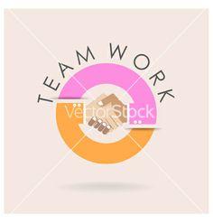 Teamwork logo vector by chatchai5172 on VectorStock®