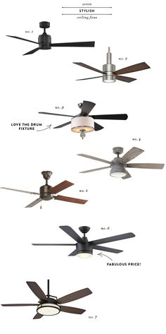 Decent-looking ceiling fans are hard to find! No 6 is just $119 and the my favorite of the bunch! #decor