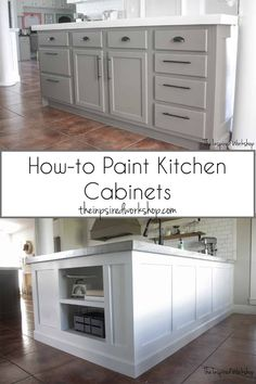 How to Paint Kitchen Cabinets - Step by Step tutorial to show you how easy you can paint your kitchen cabinets! Tips and tricks to achieve professional results! Painting kitchen cabinets shouldn't cost thousands of dollars, and it won't when you do it yourself!