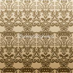 Антикварные старинные вектор бесшовный фон — Стоковое векторное изображение © Extezy #4911402