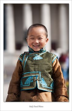 Young Mongolian boy in a traditional vest - Ulaan Baatar, Mongolia - Daily Travel Photos