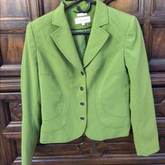 Calvin Klein blazer Size 6 women's green dress blazer. I've worn it less than 5 times and it is in perfect condition. I absolutely love this but don't ever wear it. I hope to find it a home where it will get some wear. Calvin Klein Jackets & Coats Blazers