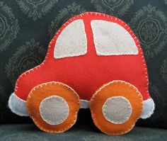Red and Orange Car Stuffed Doll