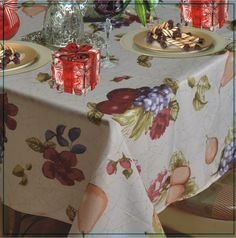 European Paradise Fruits Vintage Design Printed Tablecloth