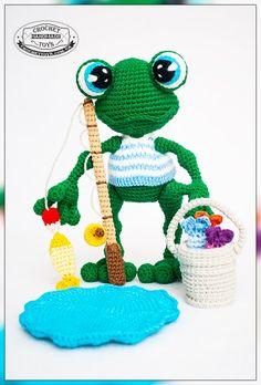 Вязаная лягушка. Crochettoys - игрушки ручной работы