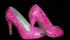 Hot Pink Crystals Peep Toe Shoes-Peep toe heels-Sparkly Party Heels-Custom wedding heels on Etsy, $161.22 AUD