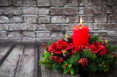 Rosas rojas para una romántica Navidad