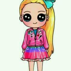 Kawaii Girl Drawings, Cute Food Drawings, Cute Little Drawings, Cute Girl Drawing, Cute Cartoon Drawings, 365 Kawaii, Kawaii Disney, Kawaii Cute, Cute Girl Wallpaper