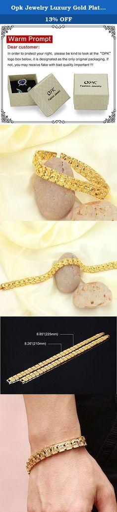 819b0f6a8 Opk Jewelry Luxury Gold Plated Men's Bracelets Chain Link Bangle Gold  Bracelet 8.27 Inch. Brand