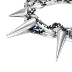 HC|N 00 Pearls and Spikes Necklace HardChic, $89