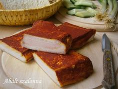 Hankka: Abált szalonna Beef Recipes, Cooking Recipes, Hungarian Recipes, Smoking Meat, Pork Dishes, Sweet And Salty, Charcuterie, Banana Bread, Sausage