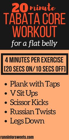 This 20 Minute Tabata Core Workout is an epic fat burning, low impact workout. Complete these ab exercises in Tabata training style to gain maximum core strength right at home. This no equipment workout combines various core HIIT exercises for the ultimat Workout Routines For Beginners, Abs Workout Routines, Ab Workout At Home, Workout Ideas, Tabata For Beginners, Tabata Training, Cross Training Workouts, Training Plan, Strength Training