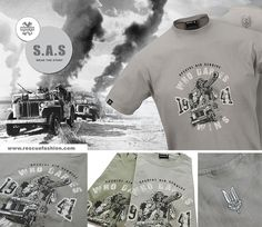 Rescue design - Special Air Service S.A.S The Special Air Service was a unit of the British Army during the Second World War, formed in July 1941 by David Stirling. It was conceived as a commando force to operate behind enemy lines in the North African Campaignand. http://www.rescuefashion.com/en/%7BT-SHIRTS%7D48-special-air-service.html