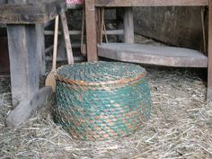 An old rye basket