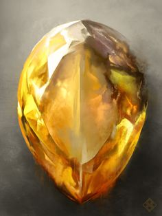 Infinity Citrine by ZsoltKosa on DeviantArt Minerals And Gemstones, Rocks And Minerals, Dipper E Mabel, Magia Elemental, Crystal Drawing, Environment Concept Art, Fantasy Weapons, Rocks And Gems, Dungeons And Dragons