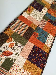 Fall Autumn Thanksgiving Quilted Patchwork by countrysewing4U