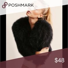 Black faux fur coat Just in time for fall and winter. Sexy chic slightly cropped black fur zip coat. Will fit xs and s. Adorable with big sunglasses and boots Jackets & Coats