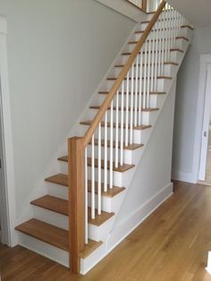 - Stairway Designs & Ideas - Anderson Stair and Railing House Staircase, Staircase Railings, Banisters, Staircase Design, Stairways, Painted Staircases, Painted Stairs, Wood Stairs, Attic Master Bedroom