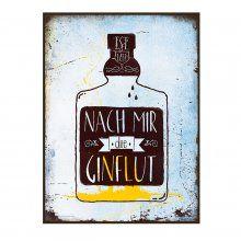 Retro-Blechschild Gin-Flut I sticky jam