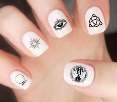 Eye Nail Decals / Symbols Nail Decal / Witch Nail Decal / Magic Nail Decal / Nail Wraps / Nail Tattoo / Nail Designs / Witchy / Symbols
