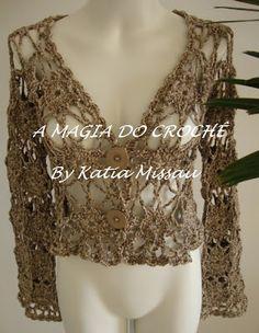 A+MAGIA+DO+CROCHÊ:+Casaqueto+Star+e+gargantilha+Charminho