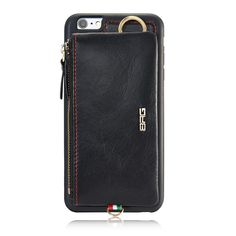 Frist Layer Leather Phone Case for iPhone 6 6S Plus New Fashion Metal Zipper Wallet Bag Cover Cases with Belt Hooks //Price: $34.00 & FREE Shipping //     #rolex