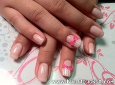 pink bow nail art » Nail Designs & Nail Art