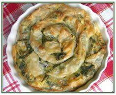 Banitza verte aux épinards frais et feta