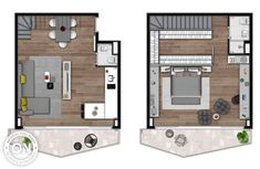 Vitacon – Life is on One Room Apartment, Apartment Floor Plans, Apartment Layout, Apartment Living, Apartment Ideas, Living Room, Small House Layout, House Layouts, Lofts