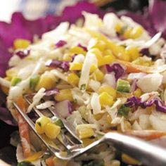 Spicy Ranch Coleslaw - Have made this over & over again.  Add more of what you like; less of what you don't. Easy and pot-luck friendly.