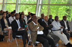 Members of the Ethiopian community in Washington DC attend a meeting with Dr. Tedros at the Ethiopian Embassy