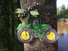 Tractor Door Hanger by WhimsyGirlArt on Etsy, $35.00