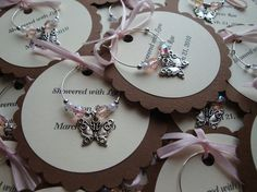 Wine Charm Favors...handmade. we can make these