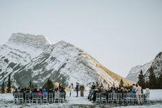 Banff Tunnel Mountain Intimate Wedding via Rocky Mountain Bride Winter Mountain Wedding, Snowy Wedding, Our Wedding, Destination Wedding, Wedding Planning, Winter Wedding Ceremonies, Winter Destinations, Winter Wedding Inspiration, Canadian Rockies
