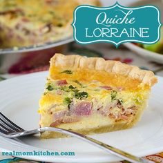Lion House Quiche Lorraine--This is delicious. Although 45 minutes is not enough time to bake. I recommend closer to an hour then 10 minutes to set. Quiche Recipes, Brunch Recipes, Breakfast Recipes, Breakfast Ideas, Brunch Ideas, Dinner Recipes, Popular Recipes, Great Recipes, Favorite Recipes