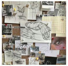 Kunst Inspo, Art Inspo, Collage Mural, Art Hoe Aesthetic, Aesthetic Drawings, Tumblr Art, Nature Drawing, Drawing Art, Arte Sketchbook
