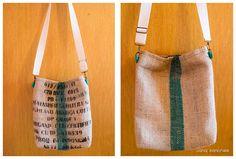 Tasche aus originalen Kaffeesäcken