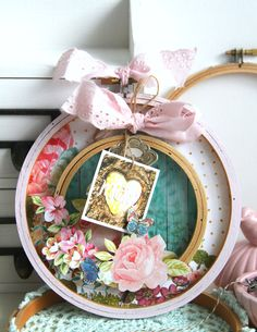 Mother's Day Embriodery Hoop Craft using Webster's Pages by Emeline Seet
