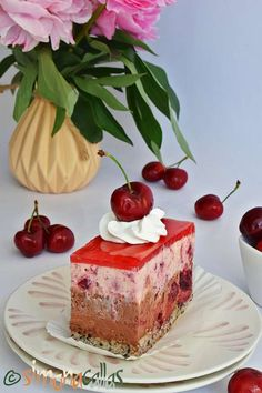 Prajitura Cherie cu ciocolata si cirese Cherry Recipes, Something Sweet, Oreo, Mousse, Biscuit, Cheesecake, Food And Drink, Ice Cream, Sweets