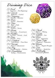 Dice Divination + Free Printable — Diary of a Hearth Witch at Willows East Divination Cards, Rune Divination, Witchcraft Spells For Beginners, Modern Day Witch, Printable Images, Wiccan Spell Book, Fortune Telling Cards, Baby Witch, Tarot Learning