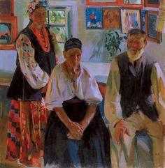 Peasant Family, Oleksandr Murashko, 1914